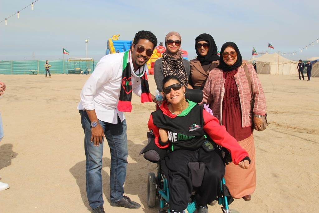 جانب من لقطة تذكارية من مخيم الامل السنوي لذوي الإعاقة
